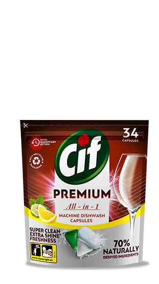 CifPremium Clean All in 1Lemon&Bergamotkapsledomyčkynádobí