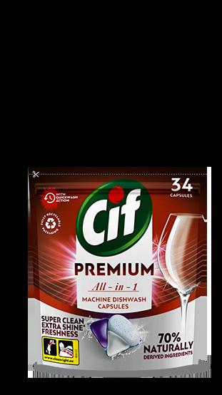 CifPremium CleanAll in 1 Regularkapsledomyčkynádobí